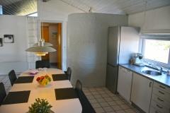 Foto fra spiseområde i køkken