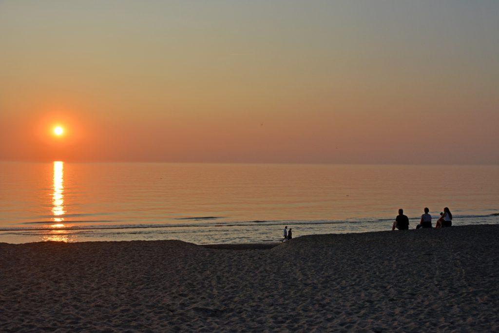 Solnedgang en flot august aften ved Vejlby Klit (25/8 2019)