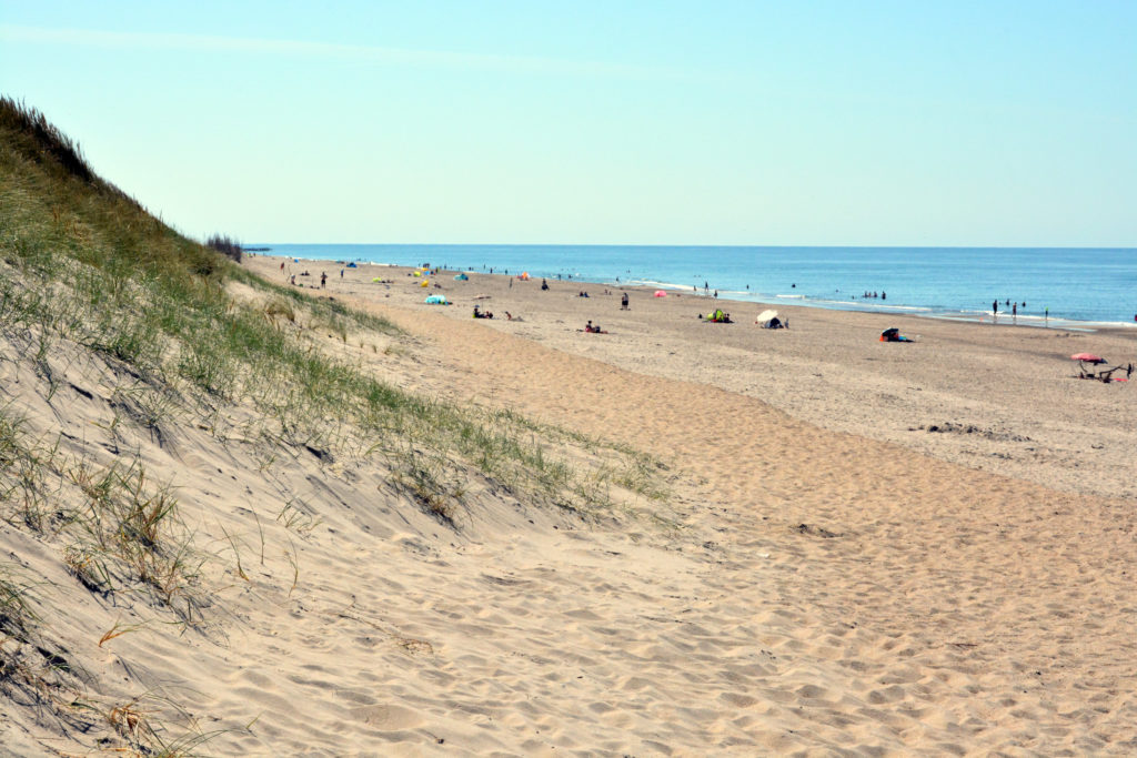 sommerdag ved Vesterhavet - det er meget varmt og så er det også godt at være ved vandet (13.08.20)